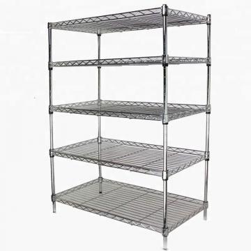 Adjustable 4 Tiers Supermarket Shelving / Metal Wire Basket Store Shelf for Sale