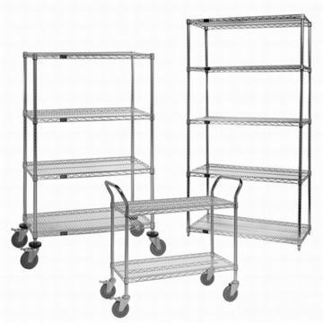 SMT Component Reel Steel Shelving Unit Adjustable Slanted Wire Shelf